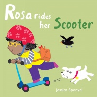 Cover image for Rosa Rides her Scooter