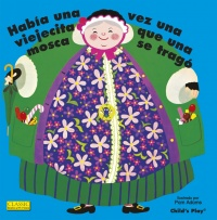 Cover image for Old Lady Who Swallowed a Fly (Spanish edition)