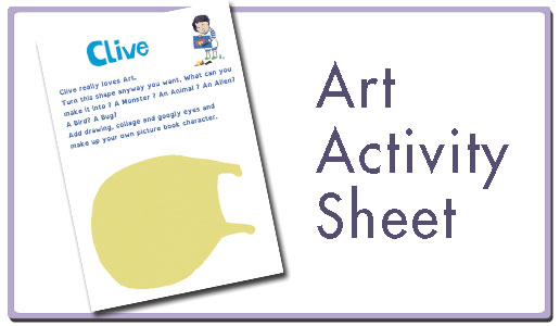 Art activity sheet button