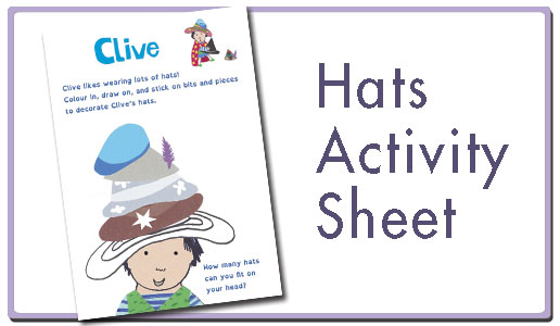 Hats activity sheet button