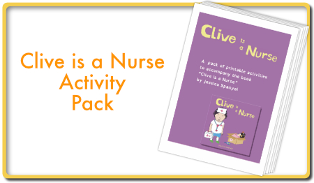 Clive is a Nurse activity pack
