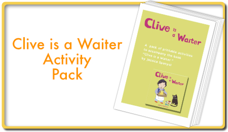 Clive is a Waiter activity Pack
