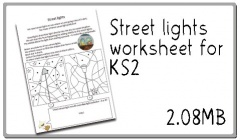 Click here to download the street lights worksheet